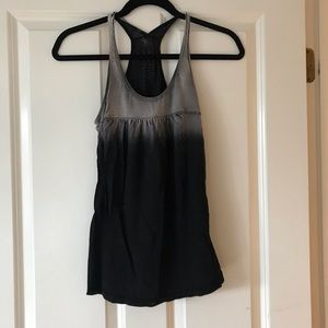Lucky Brand Black Ombré Tank Top